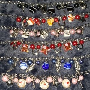 Jewelry - Charm braclet with glass charms